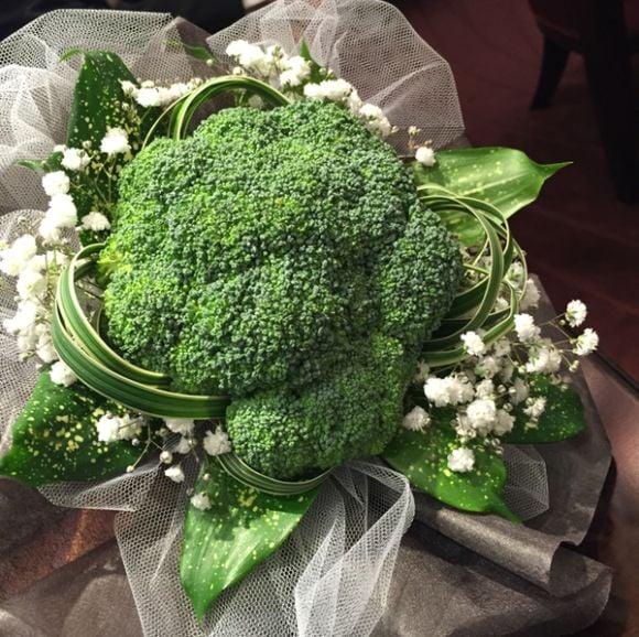 ramo de novia de brócoli