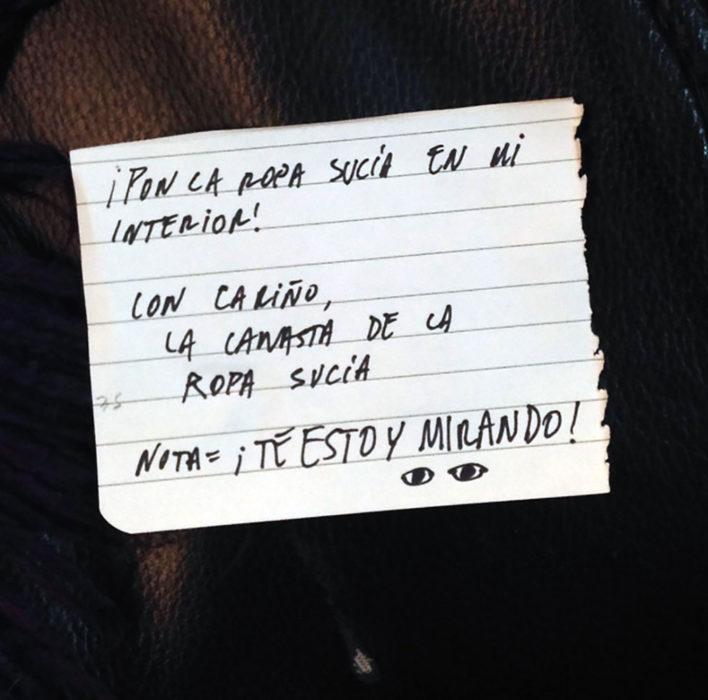 nota cesta de la ropa sucia