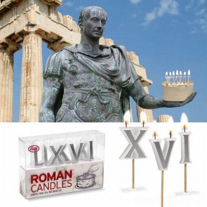 velas de números romanos