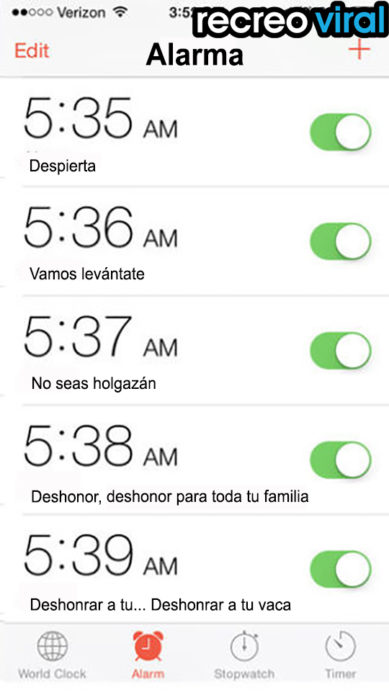 alarmas de celular