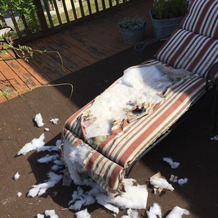 sillón descompuesto