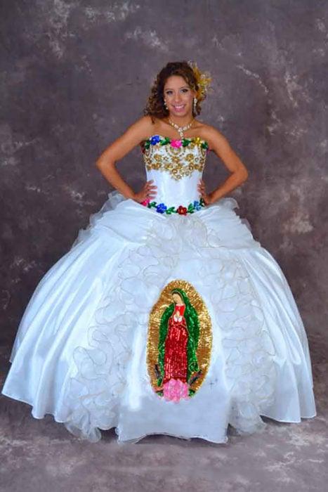 vestido de la virgen de guadalupe