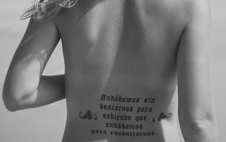 tatuaje frase en español