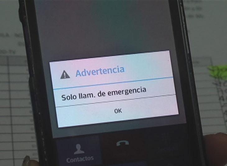 celular sin señal