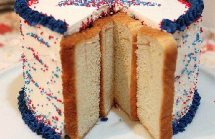 pastel con panes