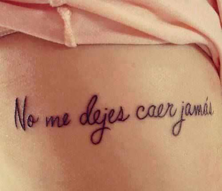 tatuaje no me dejes caer jamás