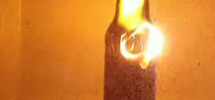 botella de cerveza microondas
