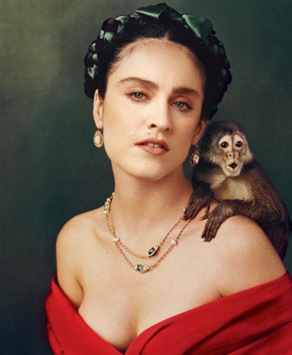 madonna como frida kahlo
