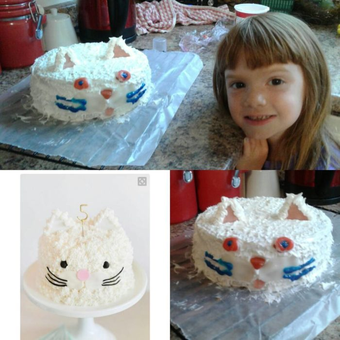 pastel en forma de gato