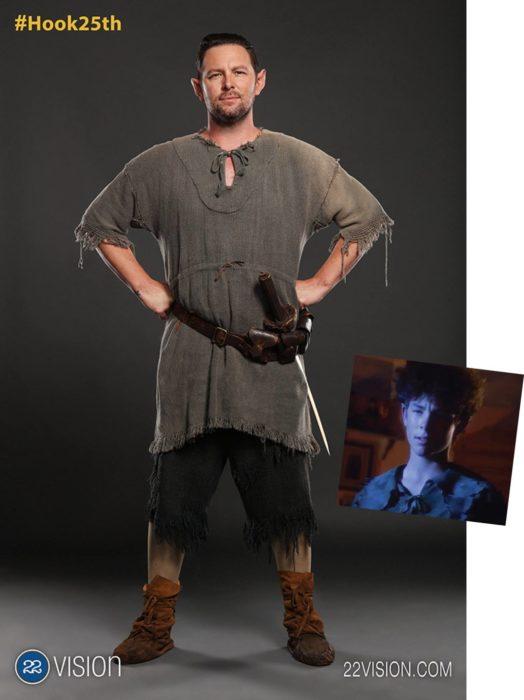 25 Aniversario Hook sesión de fotos niños perdidos, es el actor que personificó a Peter Pan más joven