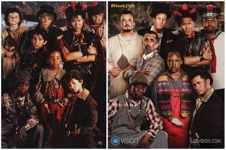Antes y después sesión de fotos niños perdidos de la película Hook