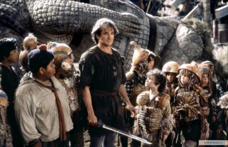 Peter Pan y los Niños Perdidos en la película Hook