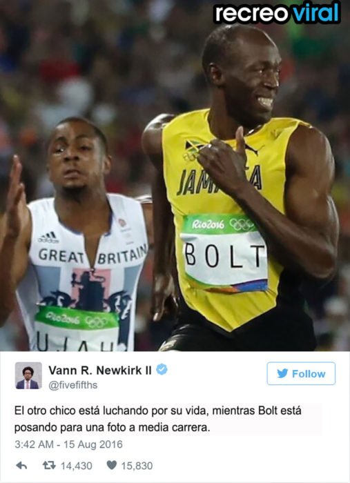 Bolt corriendo sin preocupación