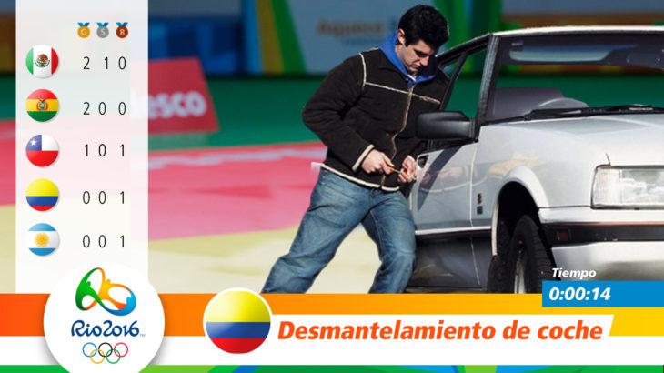 Medalla olímpica por desmantelamiento de coche