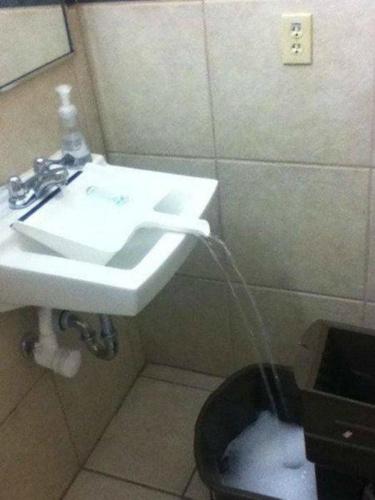 cubeta de agua lavabo
