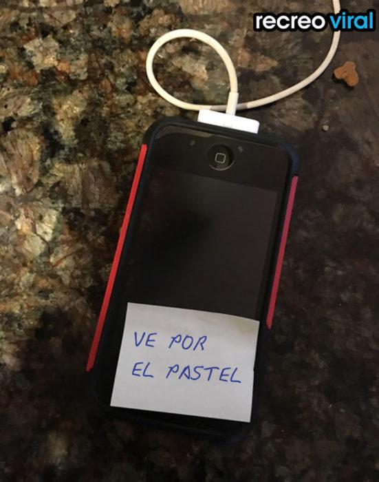 nota en el celular