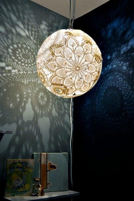 lámpara de crochet