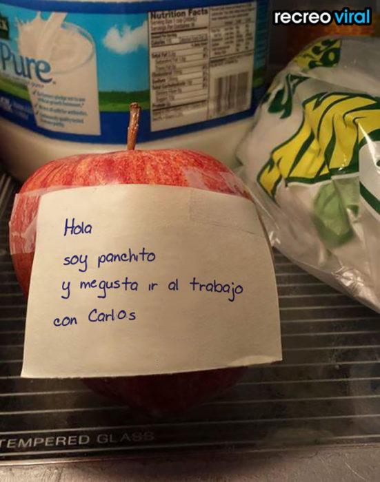 nota en manzana