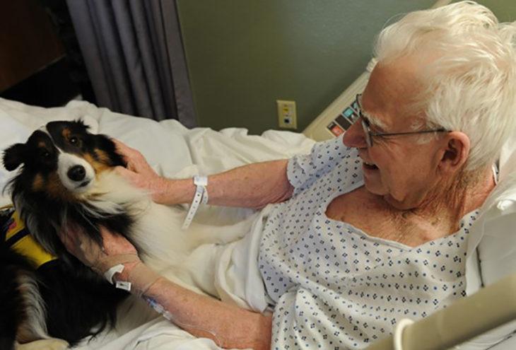 viejito con su perro