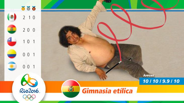 Medalla olímpica gimnasia etílica