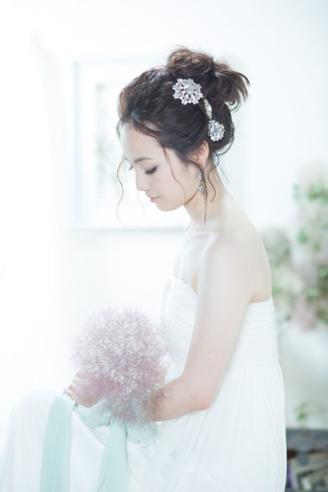 novia japonesa de perfíl