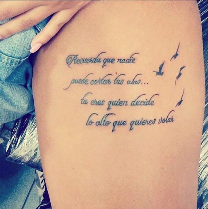 tatuaje en pantorrilla