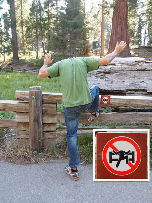 muchacho rompiendo reglas