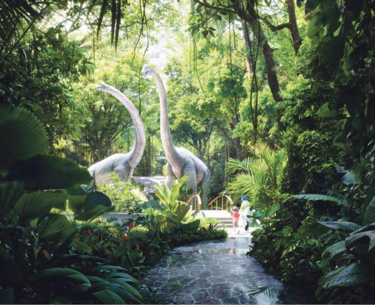 jungla con dinosaurios