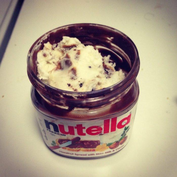 nutella y helado