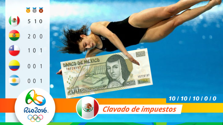 Medalla olímpica por clavados de impuestos