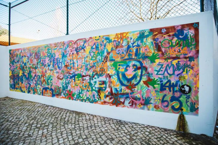 pared grafiteada