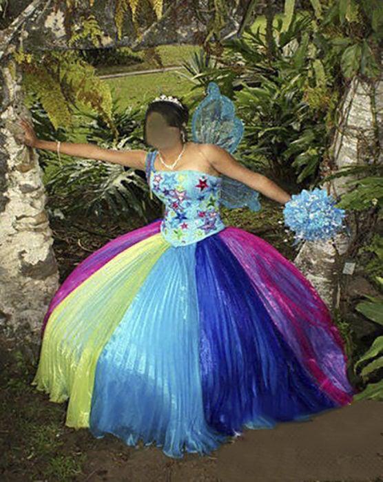 vestido de xv de colores