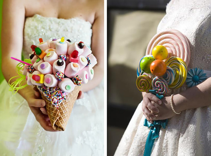 ramo de novia de dulces