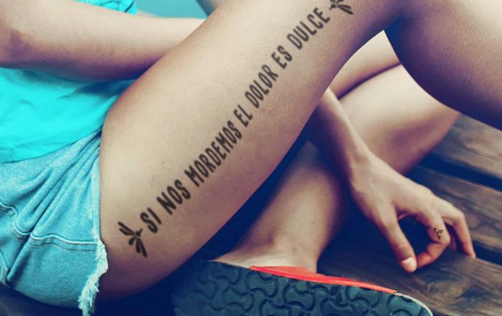 tatuaje en una pierna