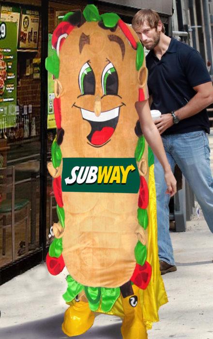 cuerpo de subway
