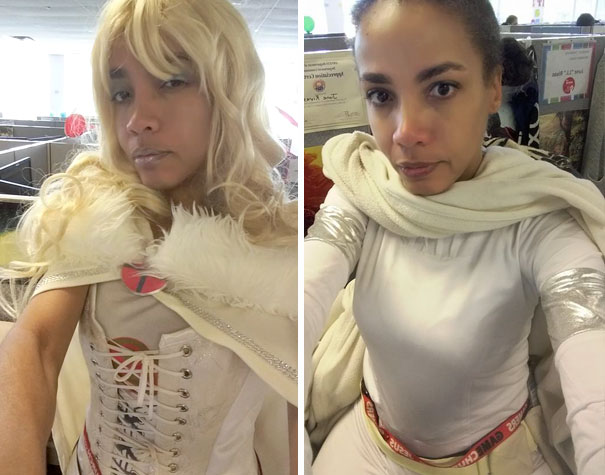 june vestida de princesa Leia