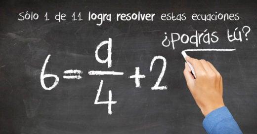 COVER Sólo 1 de 11 logra resolver estas ecuaciones,