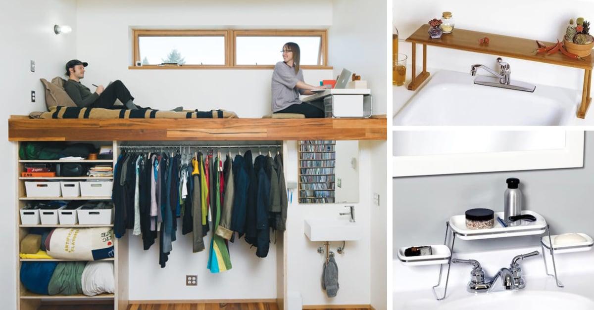 15 ideas para ahorrar espacio y decorar lugares peque os for Ideas para escritorios poco espacio