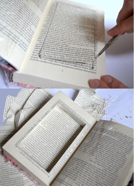 Escondite original dinero. Escondite dentro de un libro