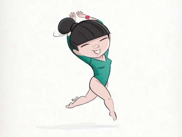 alexa con un dibujo coreano