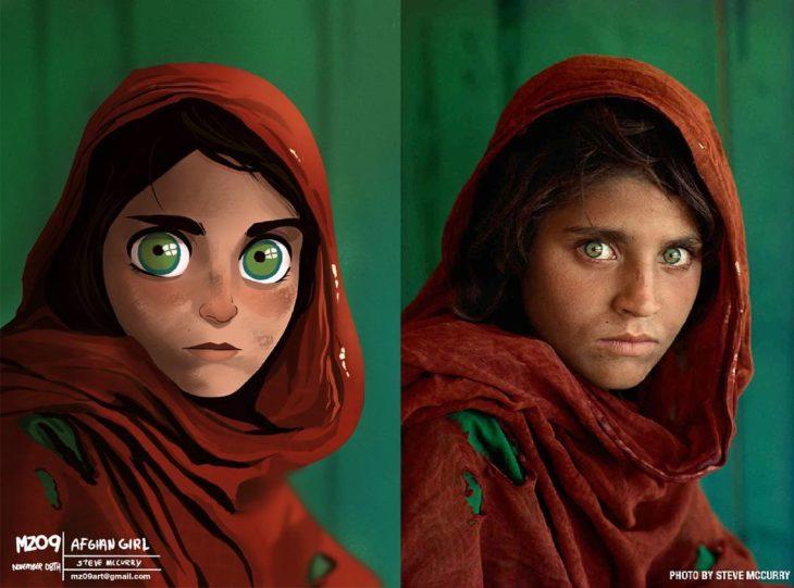 niña de los grandes ojos verdes