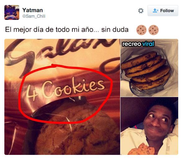 El dia mas feliz, 5 galletas en lugar de 4