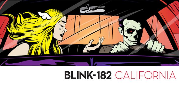 Portada del nuevo disco de Blink 182 California