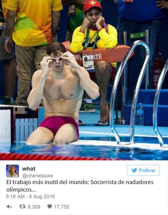 Los mejores tuits de Río 2016. El trabajo más inútil del mundo