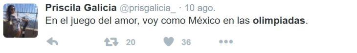 Los mejores tuits de Río 2016. En el juego del amor voy como México