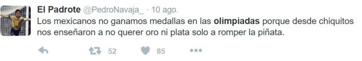 Los mejores tuits de Río 2016. Mexicanos solo quieren romper la piñata