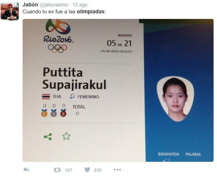 Los mejores tuits de Río 2016. Cuando tu ex fue a las olimpiadas
