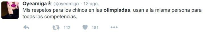 Los mejores tuits de Río 2016. Mis respetos para los chinos