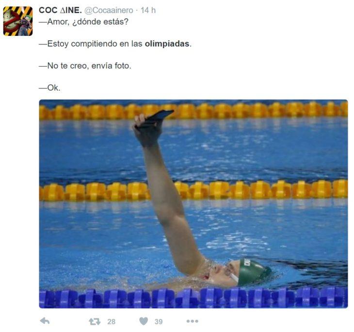 Los mejores tuits de Río 2016. SSelfie mientras compite en las olimpiadas