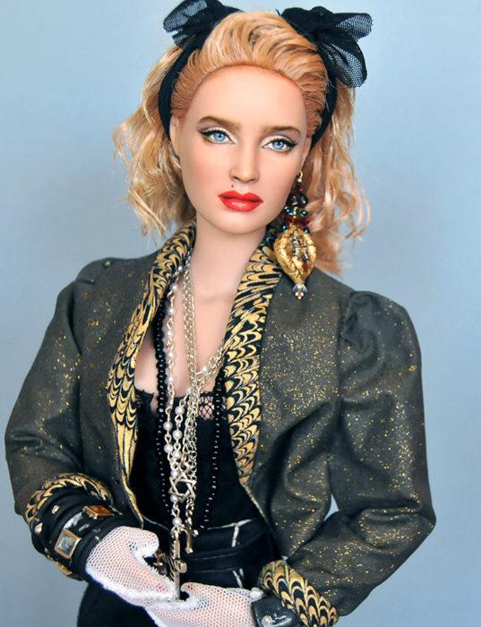 Muñecos realistas. Madonna en los 80's muñeca de Noel Cruz